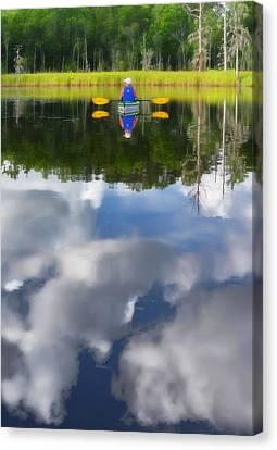 Kayaker Canvas Print by Dana Sohr