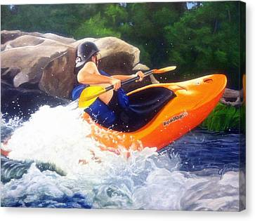 Kayaking Fun Canvas Print by Cireena Katto