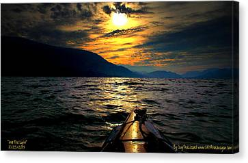 Canvas Print featuring the photograph Kayaking by Guy Hoffman