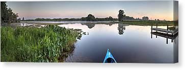 Dunnellon Canvas Print - Kayaking In Florida by Wioletta Pietrzak