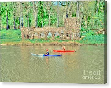 Kayaks Canvas Print by Kathleen Struckle