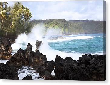 Keanae Lava Rocks Canvas Print by Jenna Szerlag