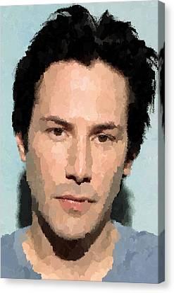Keanu Canvas Print - Keanu Reeves Portrait by Samuel Majcen
