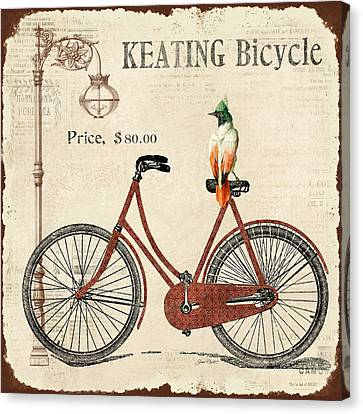 Lamp Post Canvas Print - Keating Bicycle by Jean Plout