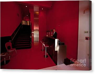 Keaton Hotel Desk Canvas Print by Russell Christie