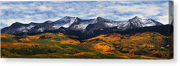 Kebler Pass Fall Colors Canvas Print by Darren  White