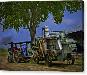 Keck Gonnerman And Advance Rumley Thresher V2 Canvas Print by F Leblanc