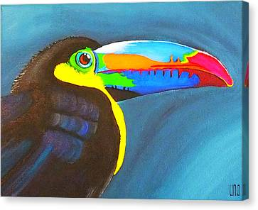 Keel Billed Toucan  Canvas Print by Una  Miller