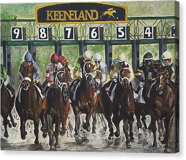 Horse Racing Canvas Print - Keeneland by Kim Selig