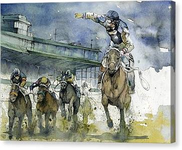 Keeneland  Canvas Print by Michael  Pattison