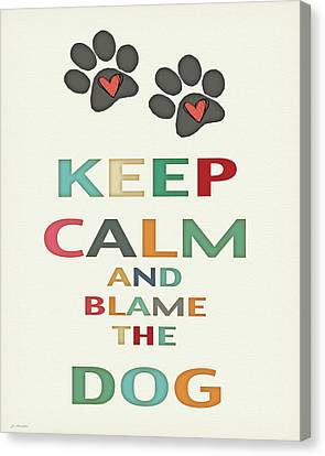 Keep Calm Canvas Print by Jo Moulton