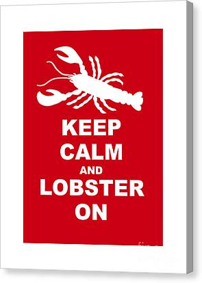 Keep Clam And Lobster On Canvas Print by Julie Knapp