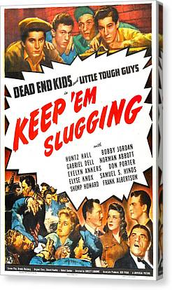 Keep Em Slugging, Us Poster, Top Canvas Print