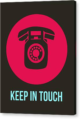 Keep In Touch 1 Canvas Print by Naxart Studio