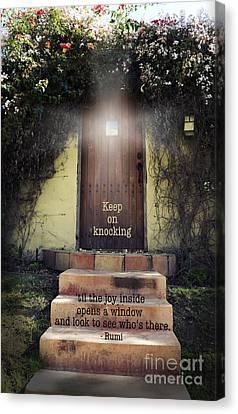 Keep On Knocking Canvas Print by Stella Levi