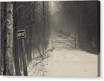Keep Out Canvas Print by Bill Pevlor