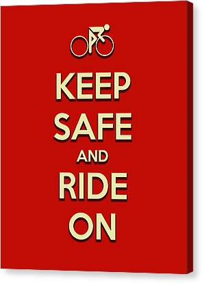 Keep Safe And Ride On Canvas Print by Brian Carson