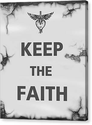 Black Canvas Print - Keep The Faith by Gina Dsgn