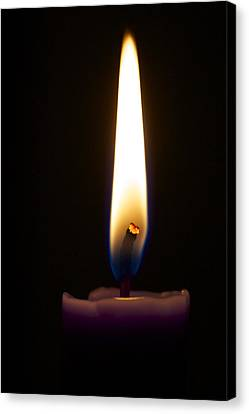 Keep The Flame Burning Bright Canvas Print