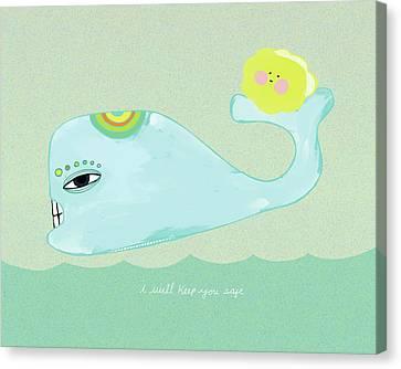 Keep You Safe Canvas Print by Lisa Barbero