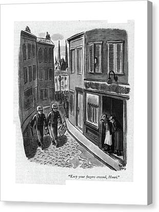 Keep Your ?ngers Crossed Canvas Print by Robert J. Day