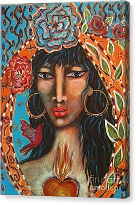 Gypsy Canvas Print - Keeper Of The Flame by Maya Telford