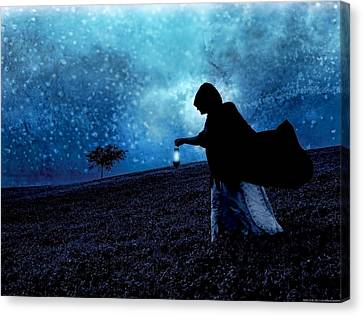 Wandering Star Canvas Print - Keeper Of The Stars by Chrystyne Novack