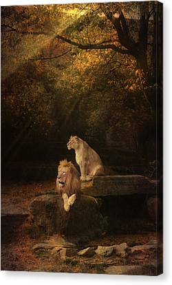 Keeping Guard Canvas Print