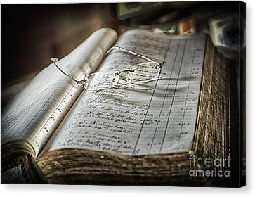 Canvas Print featuring the photograph Keeping The Books by Vicki DeVico