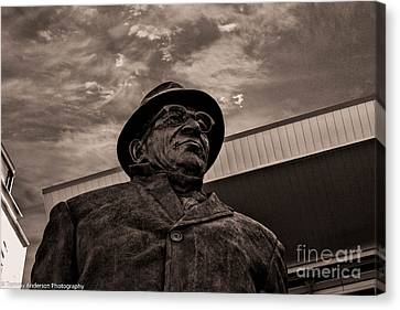 Keeping Watch Bw Canvas Print by Tommy Anderson