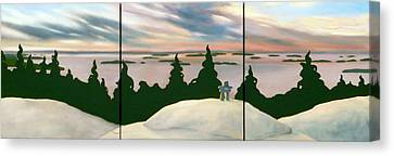 Keeping Watch Tripych Canvas Print by Jo Appleby