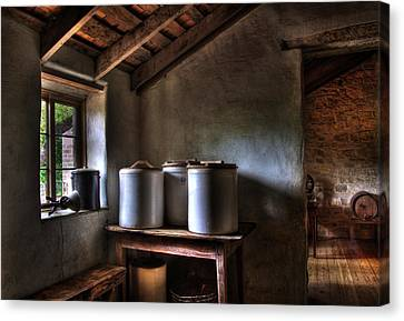 Log Cabin Canvas Print - Keg And Jug by David and Carol Kelly