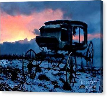 Kegs Carriage Canvas Print by Tom Straub