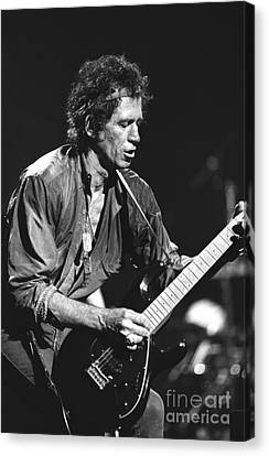 Keith Richards Canvas Print - Keith Richards by Concert Photos