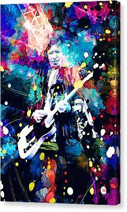 Keith Richards Canvas Print by Rosalina Atanasova