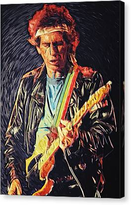 Keith Richards Canvas Print by Taylan Apukovska