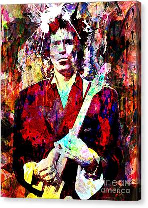 Keith Richards - The Rolling Stones Canvas Print