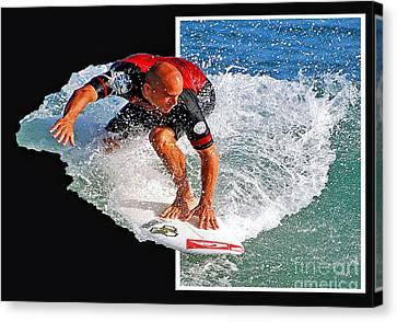 Kelly Slater Canvas Print - Kelly Slater Popping Out  by Davids Digits