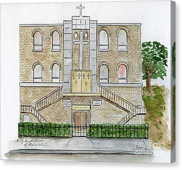 Kelly Temple Church In East Harlem Canvas Print by AFineLyne