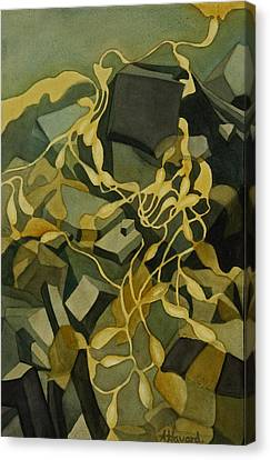 Kelp-on-the-rocks Canvas Print by Anne Havard