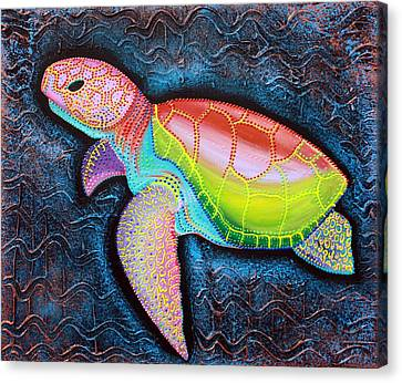Kemp's Ridley Sea Turtle Canvas Print by Laura Barbosa