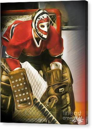 Ken Dryden Canvas Print by Mike Oulton