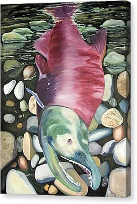 Kenai Ded Red 2 Canvas Print by Amy Reisland-Speer