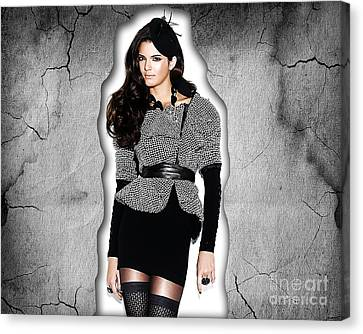 Kendall Jenner Canvas Print by Marvin Blaine