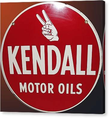 Kendall Motor Oils Canvas Print by Marvin Blaine