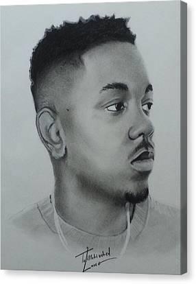 Kendrick Lamar Charcoal Canvas Print