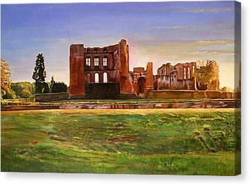 Kenilworth Castle Grandeur, 2008 Oil On Canvas Canvas Print by Kevin Parrish