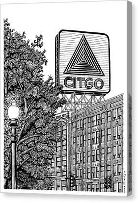 Boston Red Sox Canvas Print - Kenmore Square Citgo Sign - Boston by Conor Plunkett