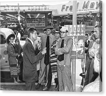 Kennedy Campaigns In Primary Canvas Print