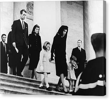 Medium Group Of People Canvas Print - Kennedy Funeral by Underwood Archives  Abbie Rowe